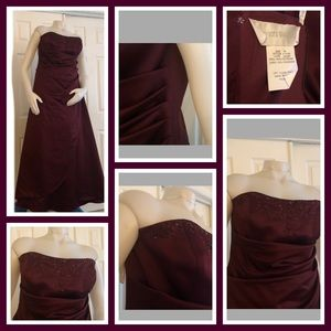 David's Bridal Dress Wine 16 F11165